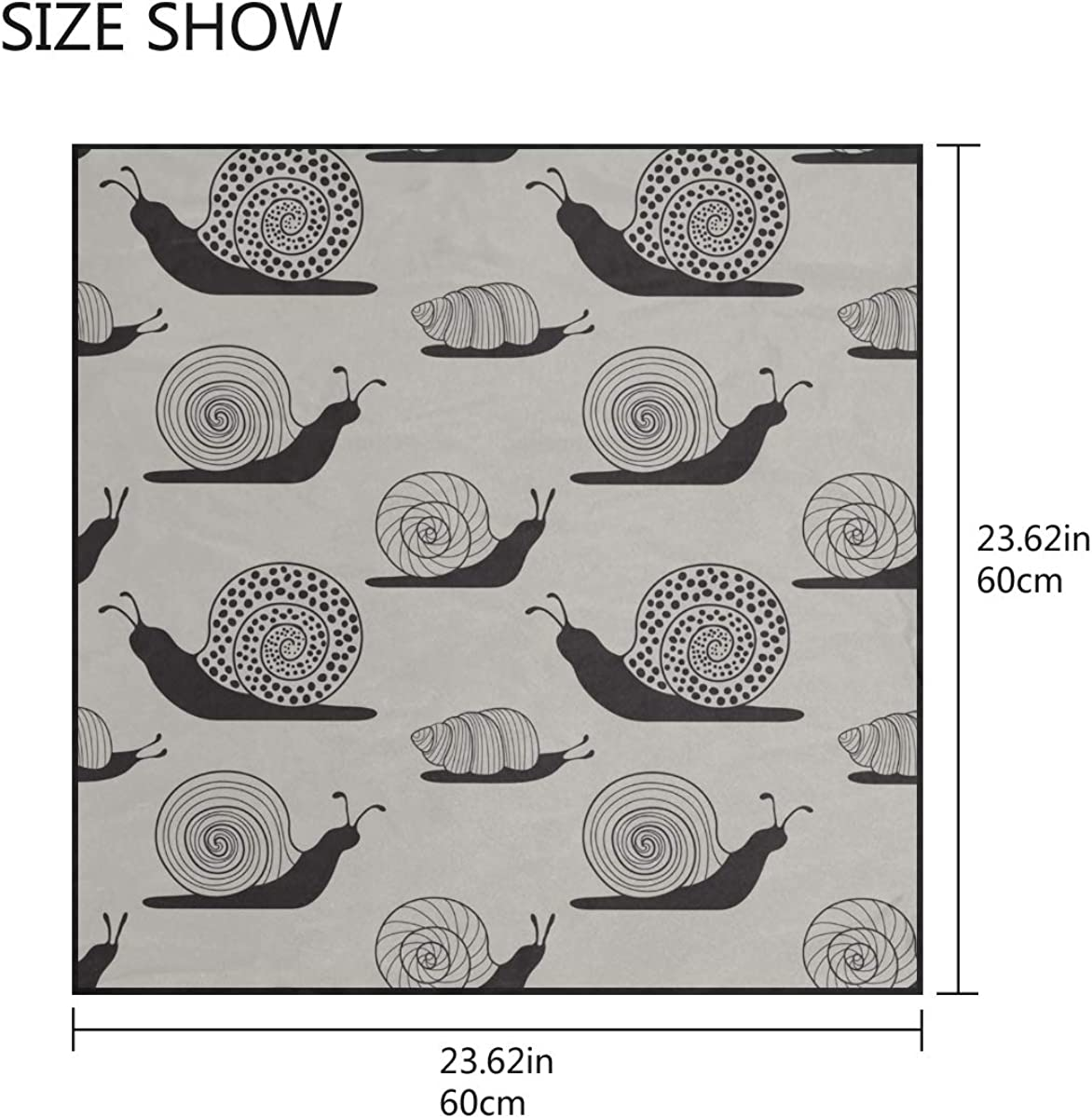 Soft Polyester Silk Womens Head Scarfs Fashion Print Cute Snails And Shells Women Scarf Wall Scarves Hair Neck Scarf Multiple Ways Of Wearing Daily Decor
