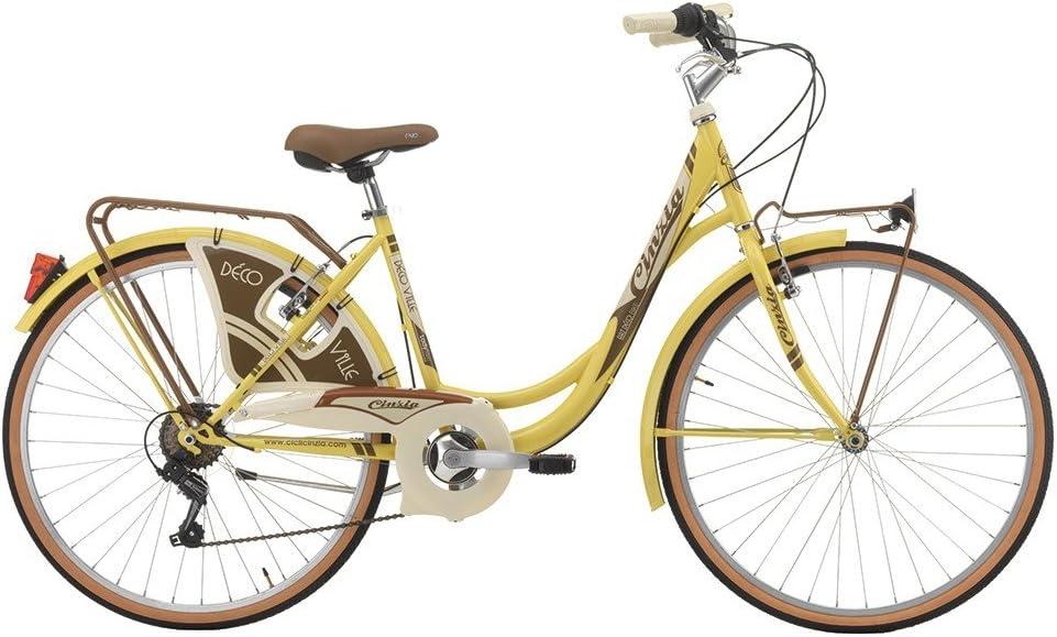 Bicicleta Cicli Cinzia decoville de mujer, con marco de acero ...