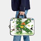 """12"""" Neoprene Laptop Bag,Letter K Uppercase Image"""