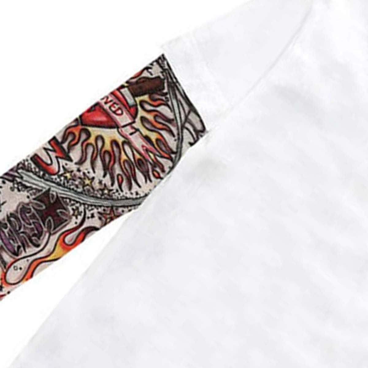 DaMohony Maglietta Bambini Cotone Camicia Manica Lunga Stampa Tatuaggio Primavera Estate