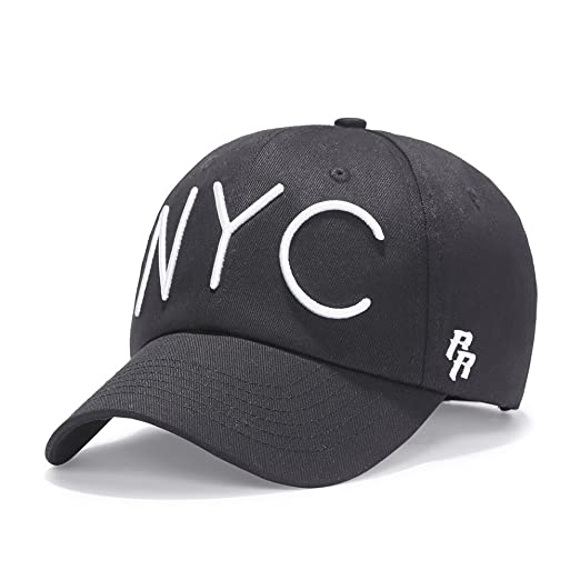 Riorex Velvet hat for Men Snapback hat Fitted Mens Adjustable Baseball Cap  NYC (Black) 11397a56945
