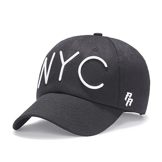 Riorex Velvet hat for Men Snapback hat Fitted Mens Adjustable Baseball Cap  NYC (Black) e67edcf2e23