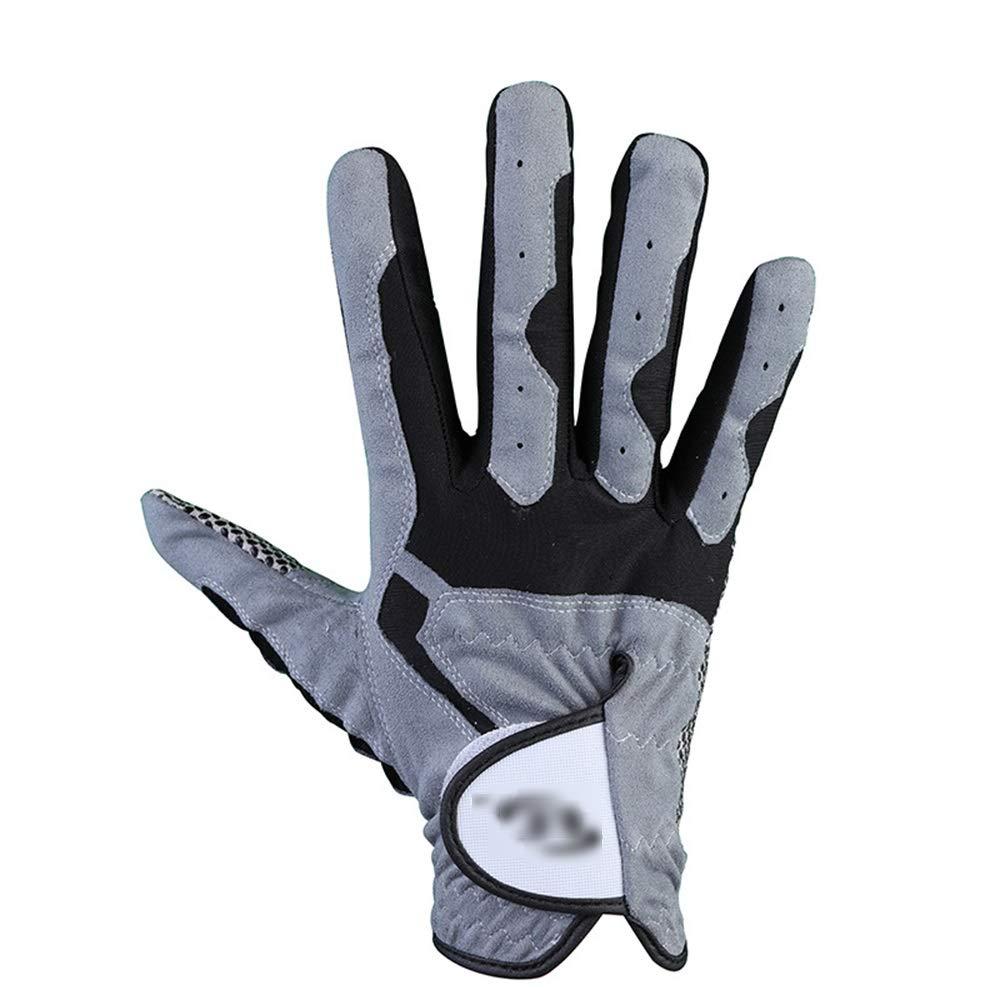 Crystalzhong ゴルフグローブ メンズ 左手 右手 薄手 通気性 ゴルフグローブ 耐摩耗性 ノンスリップ ゴルフグローブ ライクラ ストレッチ生地 25 crystalzhong 25 Left Hand B07Q7Q6QSS