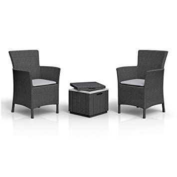 Amazon.de: 2 x Allibert Iowa Dining Chair Sessel Sitzgruppe + ...