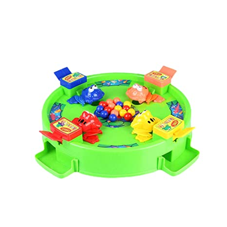 Amazon.com: Toyvian Hungry Frogs 3D Battle Board Games Frogs ...