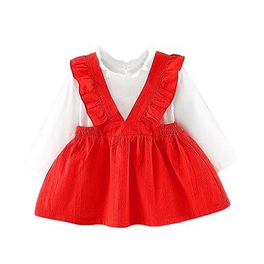 d7b71e85b662 Amazon.com  Baby Girls Cute Dresses Newborn Infant Braces Clothes on ...