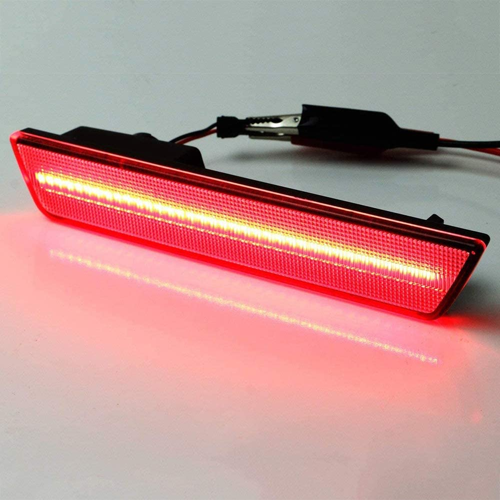 FAYUE Lens LED Bulb Rear Red Side Marker Light Set Compatible with 2008-2014 Dodge Challenger