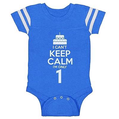 Tstars Birthday Cake - I Can't Keep Calm I'm One Toddler Cute Baby Jersey Bodysuit