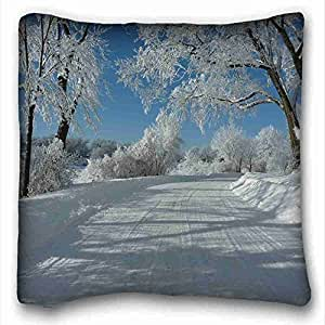 "Generic Personalized Nature DIY Pillow Cover Size 16""X16"" suitable for King-bed"