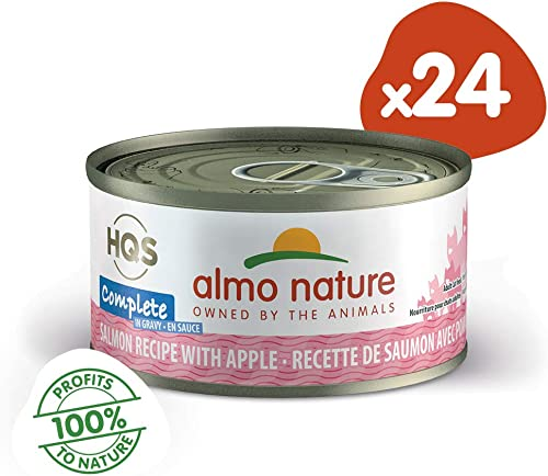 almo nature HQS Complete, High Protein, Natural Grain Free Wet Cat Food Pack of 24 x 2.47 Ounce 70 Grams