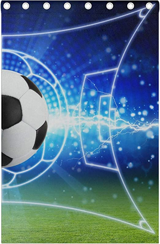 rostsp Rideau Isolant Thermique Rideaux De Football Brod/é Enfants Rideaux Gar/çons Rideaux Transpa
