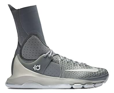 6bb5579de22bbe Image Unavailable. Image not available for. Color  Nike KD (Kevin Durant) 8  ELITE Grey Mens Basketball Shoes ...