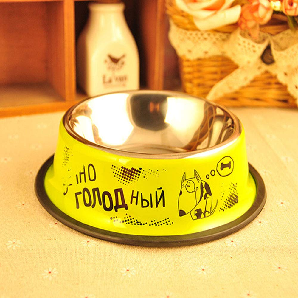Yellow 6.44.61.6 Yellow 6.44.61.6 XIAN Dog Bowl,Dog Bowls Stainless Steel Dog Bowl, 8oz For Small Pets Puppy Kitten Rabbit Non-Skid Dog Food Bowls Easy To Clean Durable Dog Dish For Food And Water Easy to Clean Non-Skid Bowls for Dogs