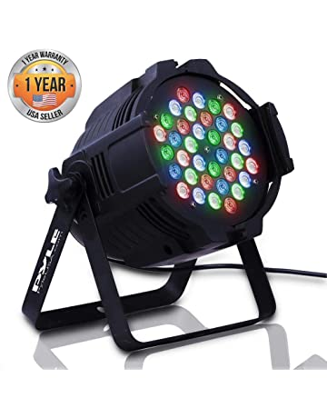 DJ Par Stage Light Projector - RGB Color LED Bulb - Tabletop or Ceiling Mountable for