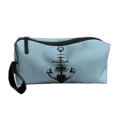 Unisex Handbags Cool Ship Boat Anchor Logo Sign Storae Bags Pencil Cases
