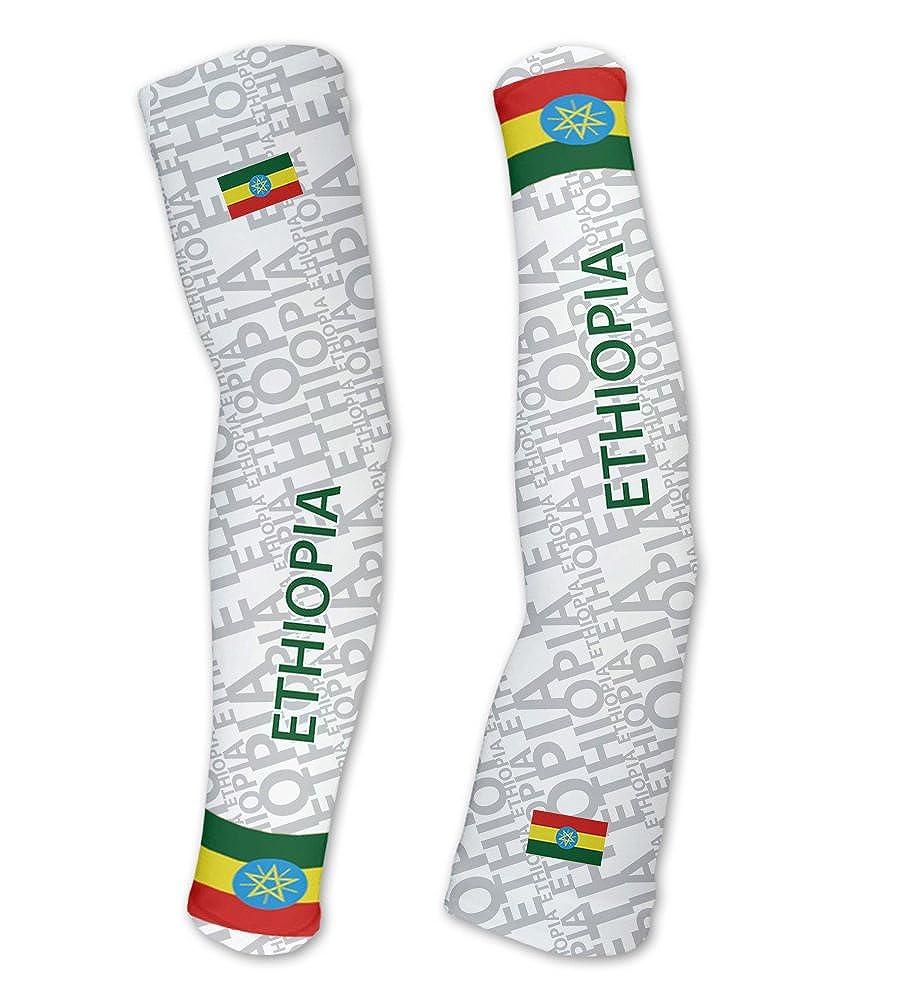エチオピアScudoPro Compression Arm Sleeves UV保護ユニセックス – Walking – サイクリング – Running – ゴルフ – 野球 – バスケットボール 5L  B01BLUIV12