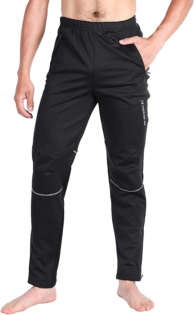 INBIKE Pantalon Cycliste Sport dhiver Coupe Vent Noir pour Cyclisme Velo VTT Course Homme