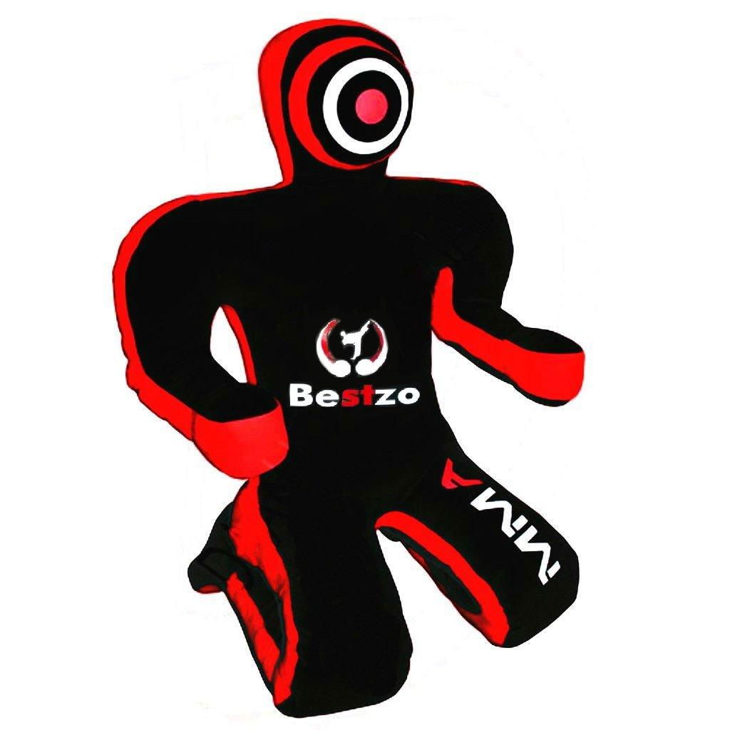 bestzo MMA Jiu Jitsu柔道Punching Bag Grapplingダミー – Sitting Position B01LW14XX4 Canvas Black 48 in (4 ft)