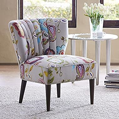 Madison Park Korey Channel Back Slipper Chair