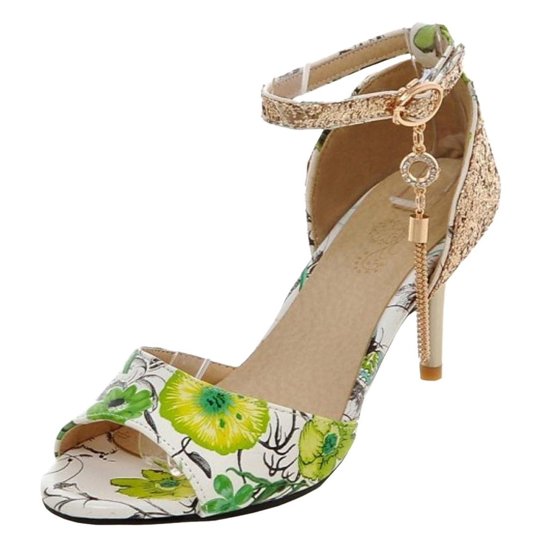 0930bebed JOJONUNU Mujer Tacon Alto Floral Sandalias 50% de descuento - www ...