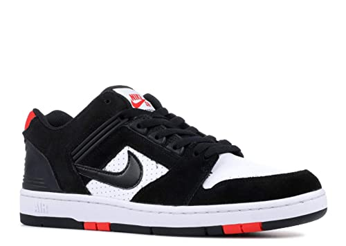 Nike SB AIR Force II Low Mens Skateboarding Shoes AO0300 006_9 BlackBlack White Habanero RED
