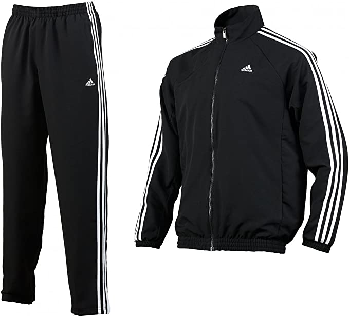 adidas Herren Trainingsanzug Essentials 3 Stripes Woven Tracksuit