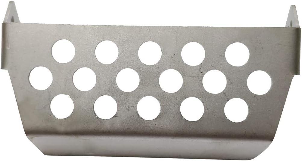 Fanuse Parachoques Delantero de Acero Inoxidable Inferior Eje Conjunto de Placa Protectora de Montaje en Caja de Cambios para 1//10 RC Crawler AXIAL SCX10 II 90046 90047 90060