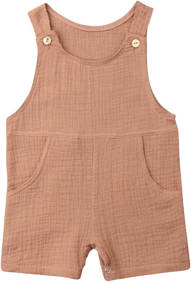 CIPOGL Baby M/ädchen Jungen Brief Drucken Kurze /Ärmel Strampler Tops Latzhosen Overall Jumpsuit Outfits Babykleidung Set