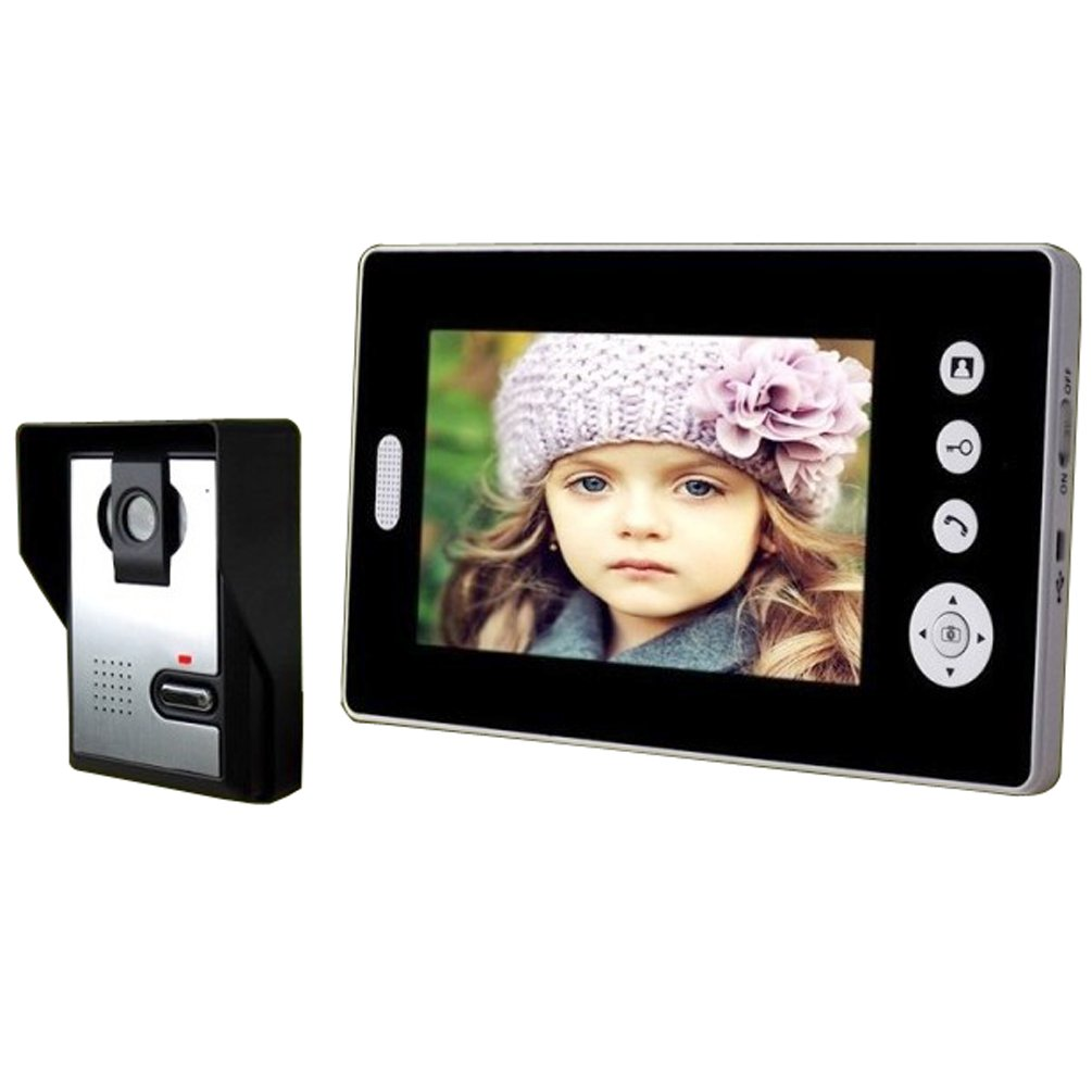 Shanyi 2.4GHz Digital Wireless 7'' Monitor TFT Color Video Door Phone DoorBell Intercom by Shanyi