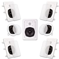 Acoustic Audio HT-57 7.1 Home Theater Speaker System (White, 7)