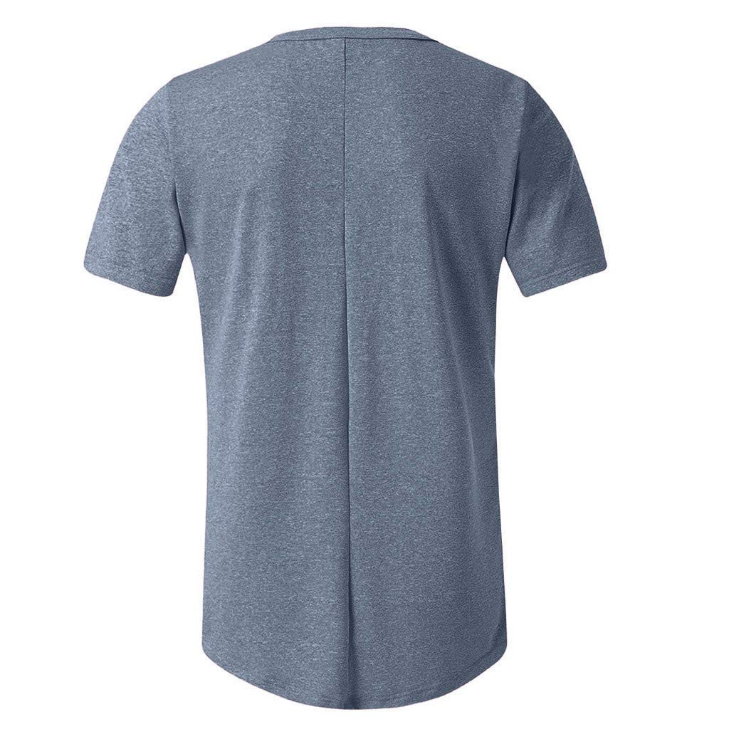FEDULK Mens Plain Tshirt Slim Fit Short Sleeve Round Neck Sports Workout Fitness Shaperwear Tops