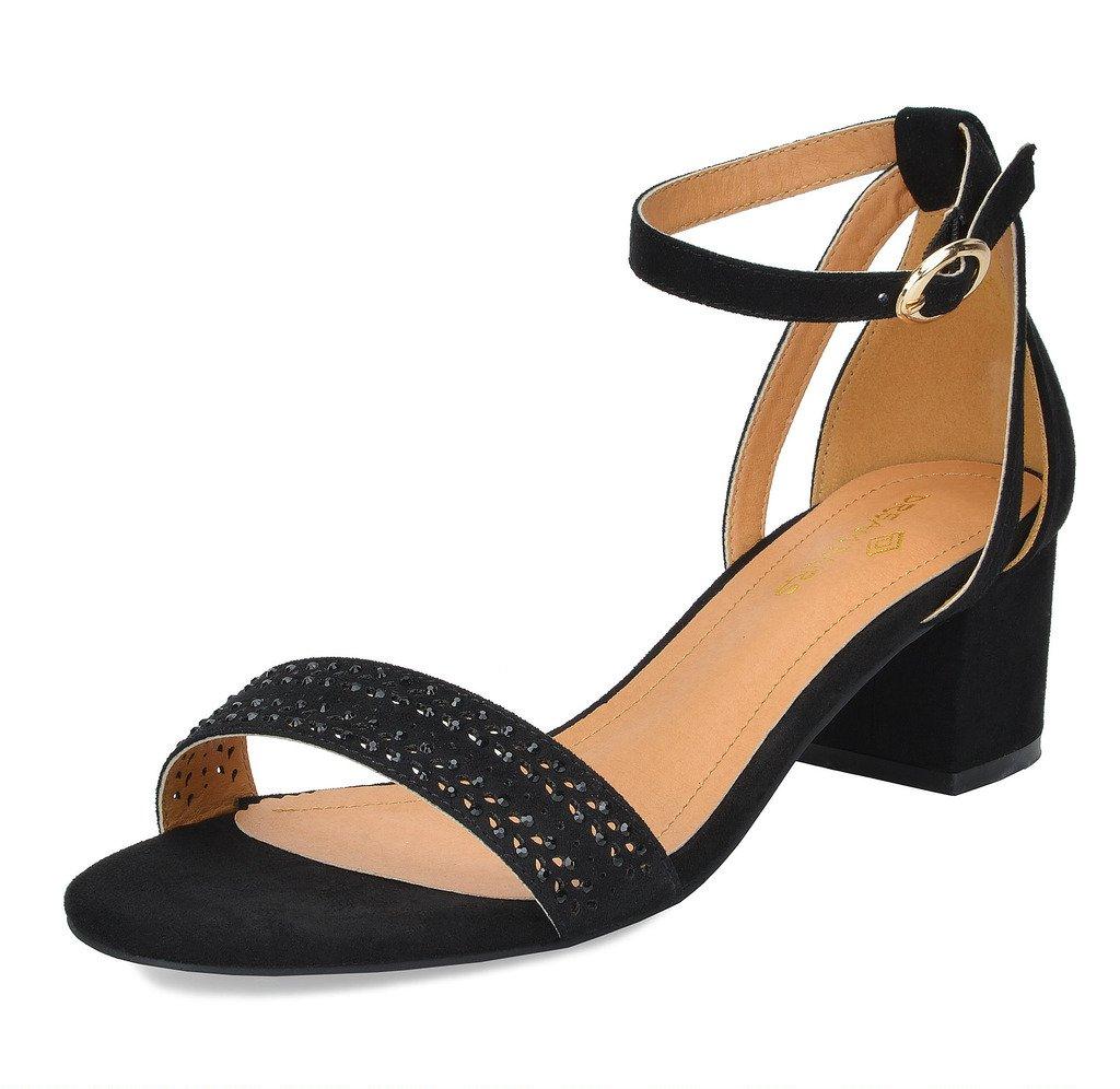 DREAM PAIRS Women's Mona_05 Black Fashion Block Heel Sandals Size 11 B(M) US