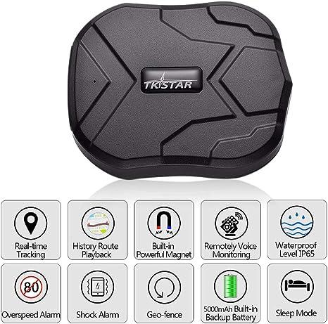 Konnison-1 Rastreador GPS Coche 5000mAh 90 días en Espera 2G Rastreador de vehículos Localizador GPS Imán Impermeable Monitor de Voz Aplicación Web Gratuita: Amazon.es: Deportes y aire libre