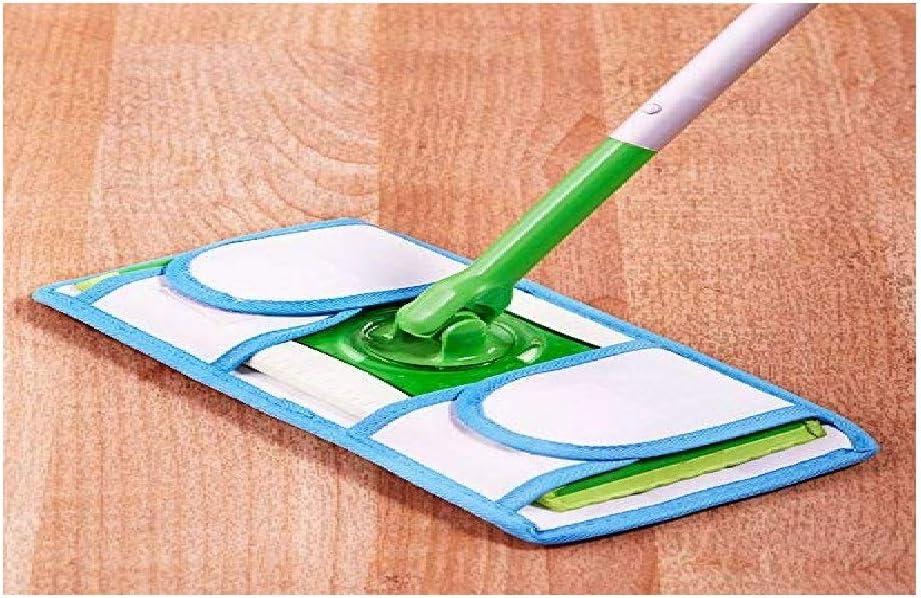 E&M Reusable Microfiber Mop Pads Set of 2