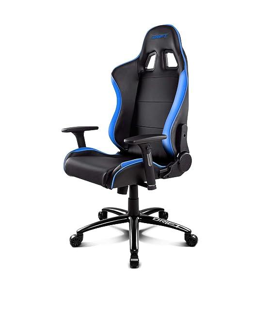 Drift DR200BL - Silla Gaming Profesional, (Polipiel Alta Calidad, Ergonómica), Color Negro/Azul