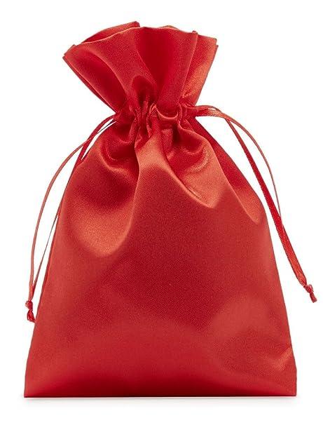 10 bolsas de satén con cordón para cerrar, tamaño 30x20 cm ...