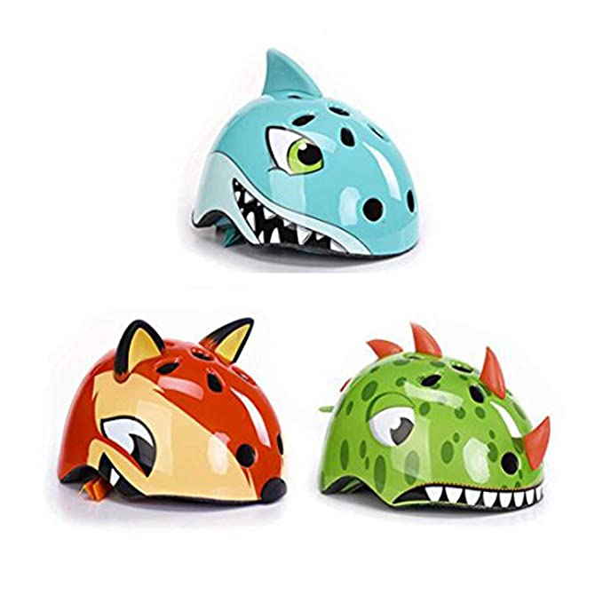 YGJT Cute Cartoon Kids casco de seguridad niños ciclismo patinaje casco para bicicleta de patinete, Niño, Infantil, color Dinosaur, tamaño S: Amazon.es: ...