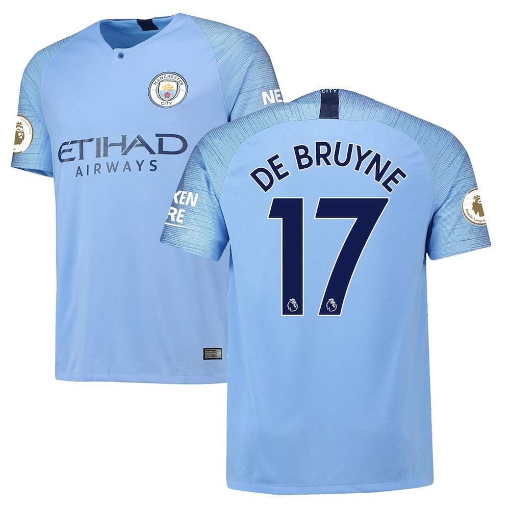 buy popular 28948 8e94d Amazon.com: Manchester City Men's Kevin De Bruyne #17 2018 ...