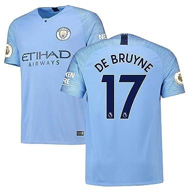 buy popular 53fee 3e589 Amazon.com: Manchester City Men's Kevin De Bruyne #17 2018 ...