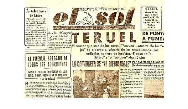 DIARIO DE LA MAÑANA DEL PARTIDO COMUNISTA DE ESPAÑA. AÑO II. N. 201. 14-ENERO-1938.: PERIODICO.: Amazon.com: Books