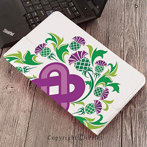 - Samsung Tab S3 9.7 SM-T820 SM-T825 Tablet Case Protective Cover Crystal Case,Celtic,Eternal Life Symbol Celtic Motif Surrounded with Thistle Flower and Leaves Image,Purple Green
