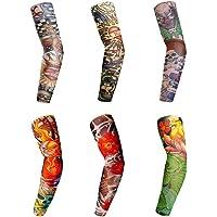 Raffreddamento del braccio maniche per bambini, unisex, finto tatuaggio braccio maniche maniche, tatuaggi temporanei per donna uomo per escursionismo/ciclismo/guida/basketball/volleyball & Outdoor
