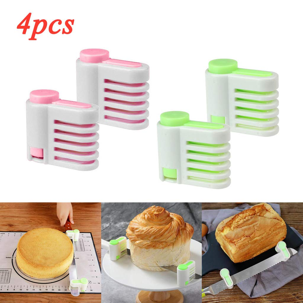 SUJING 4 Pcs Even Cake Slicing Leveler Bread Cutter Durable Baking Kitchen Tools,Bread separator by SUJING (Image #1)