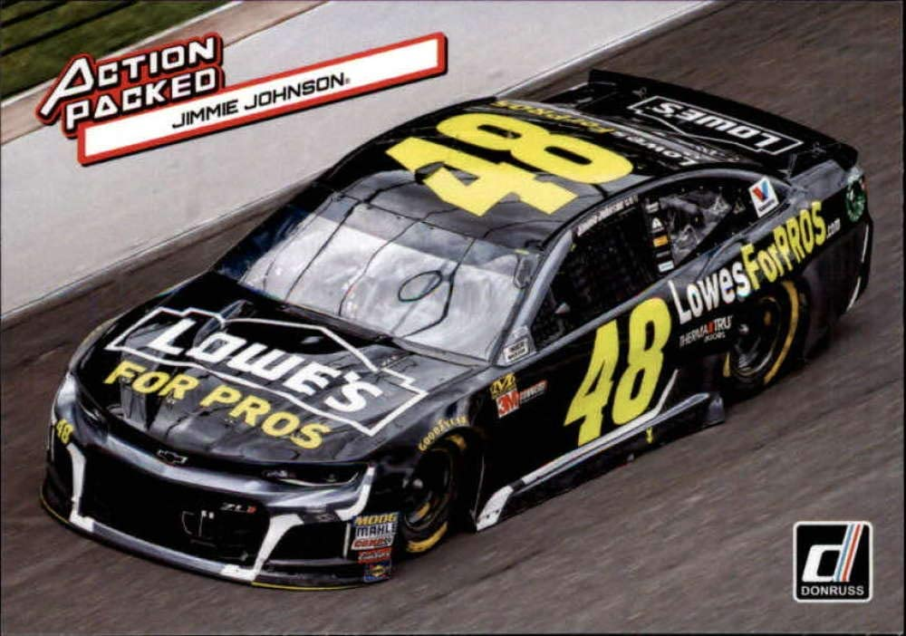 2019 Donruss Racing Action #12 Jimmie Johnson Lowes/Hendrick Motorsports/Chevrolet Official ...