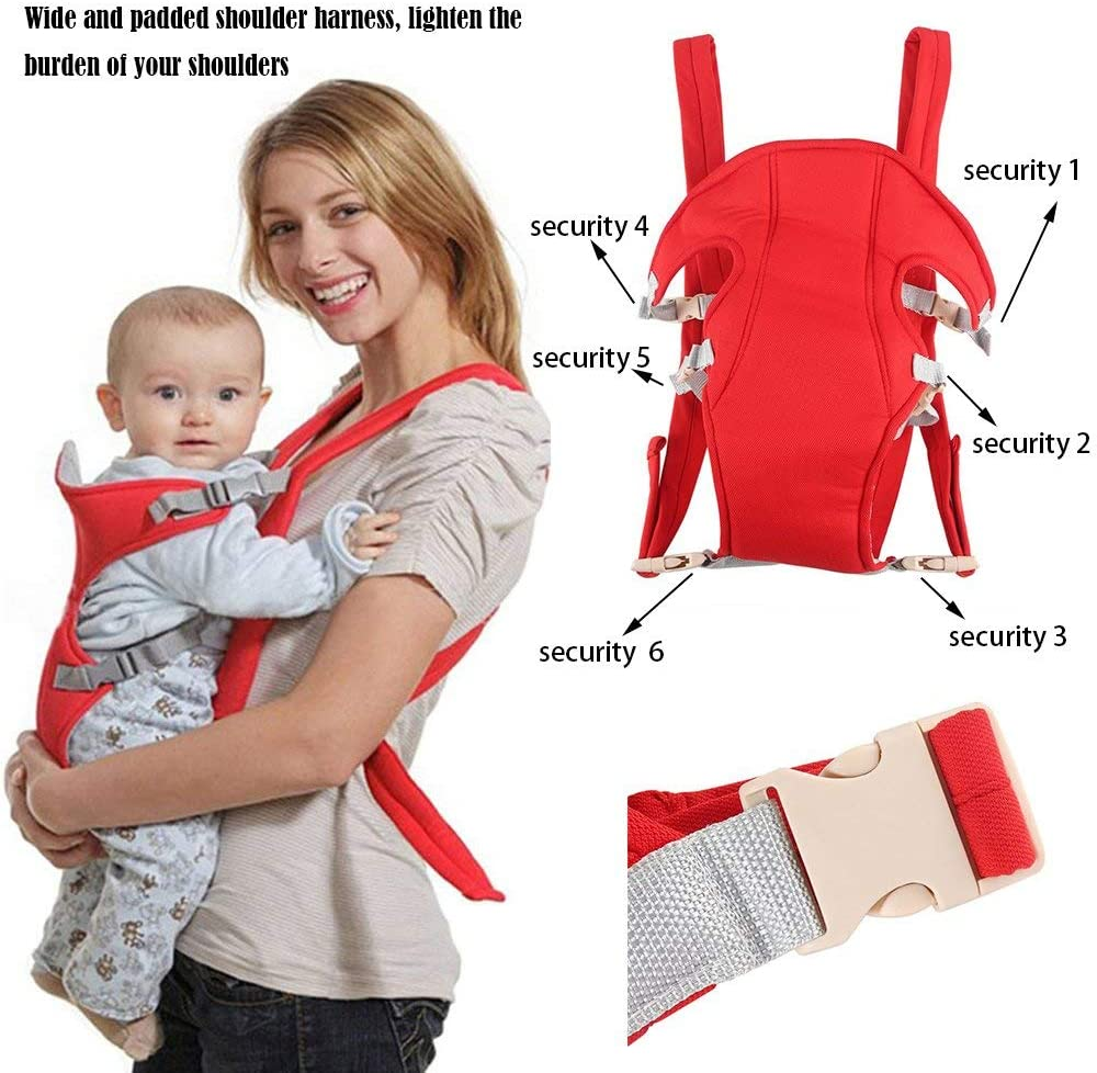 DGdolph Infant Baby Carrier Newborn Cradle Kids Sling Wrap Pouch Bag Front Back Rider Red
