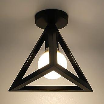 Retro Industriell Dreieck Kunst Design Deckenleuchte Kreativ Eisen Metall  Lampenschirm Schwarz Vintage Einfach Deckenlampe Loft Bar