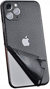 Wrap Skin for iPhone 11 pro max,Tectom Leather Strip Precision Holes Ultra Thin Carbon Fiber Back Protective Skins Sticker Decal for iPhone 11PM