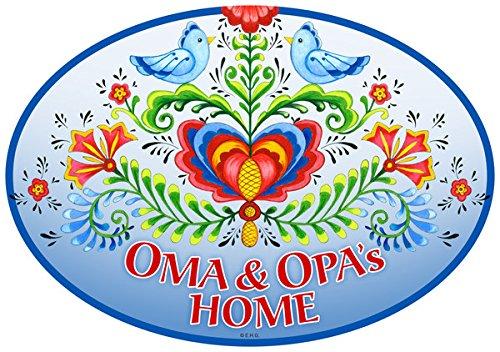 Oma & Opa's House Ceramic Door Sign Rosemaling - Design Rosemaling