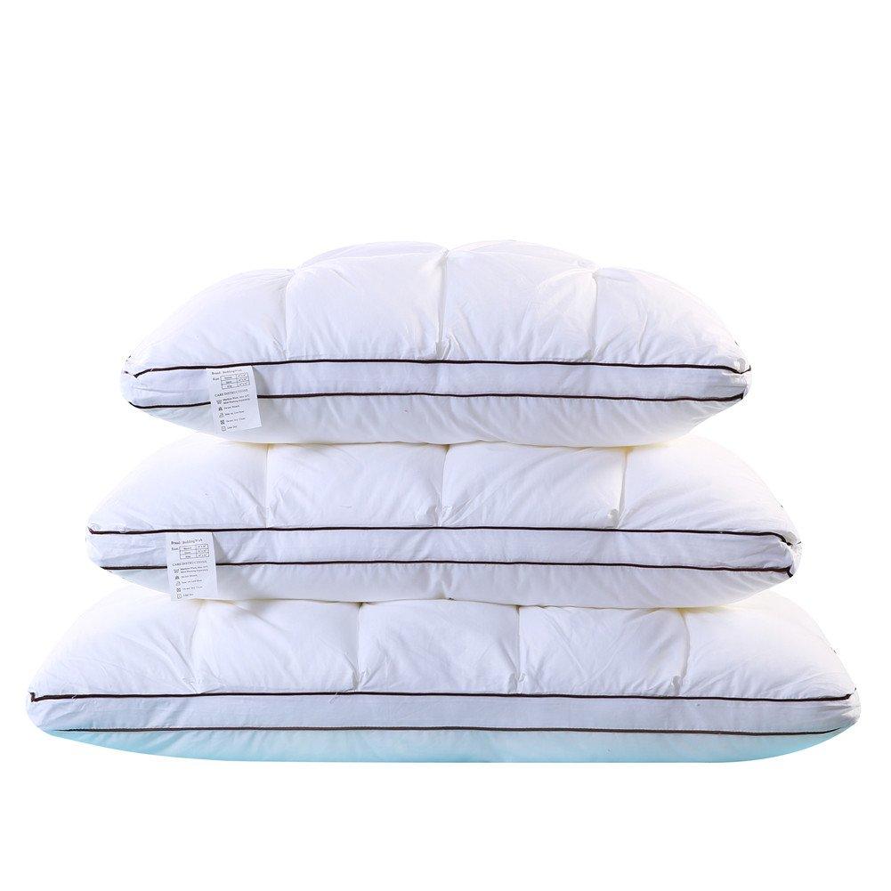 beddingwish 100 %コットンの枕大人用3d Breadデザイン高弾性ネック快適ホームホテル抗菌Healthy Sleep クイーン ホワイト FMBZ-02 B07CKXK4QY  クイーン