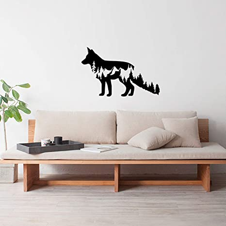 Wolves in the Forest HD Removable Vinyl Wall Art Poster Decal Peel /& Stick